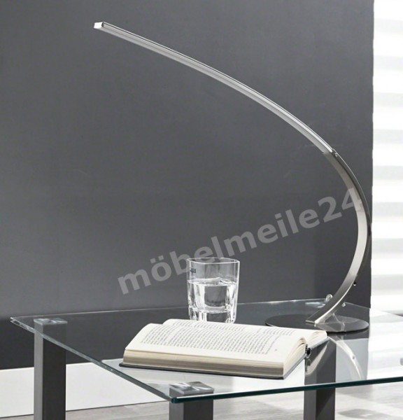 moderne LED Tischlampe Edelstahl / Alu