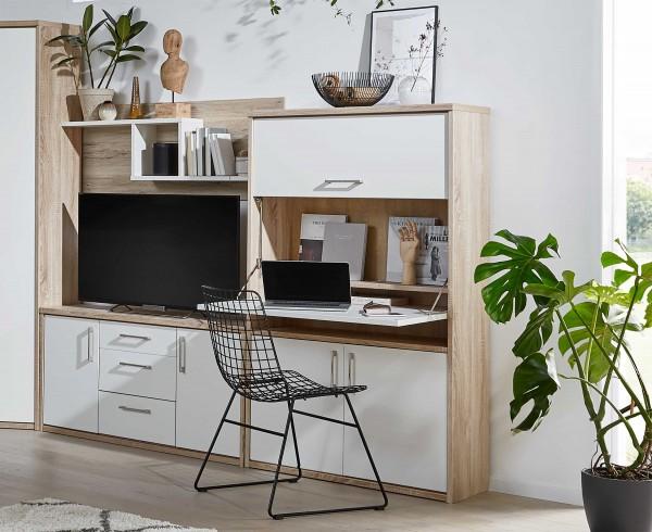 Achat kleine Wohnwand mit Sekretär und TV-Fach in vielen Farben