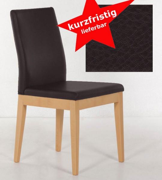 Santos Polsterstuhl buche / Kunstleder dunkelbraun kurzfristig
