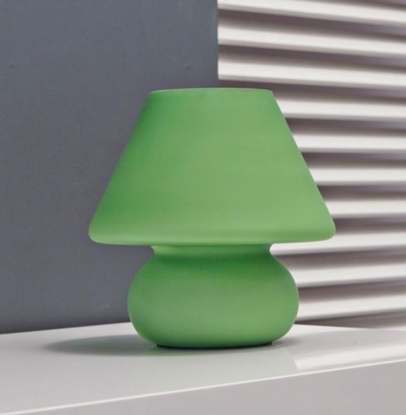 Retro Tischlampe Glas grün o. orange