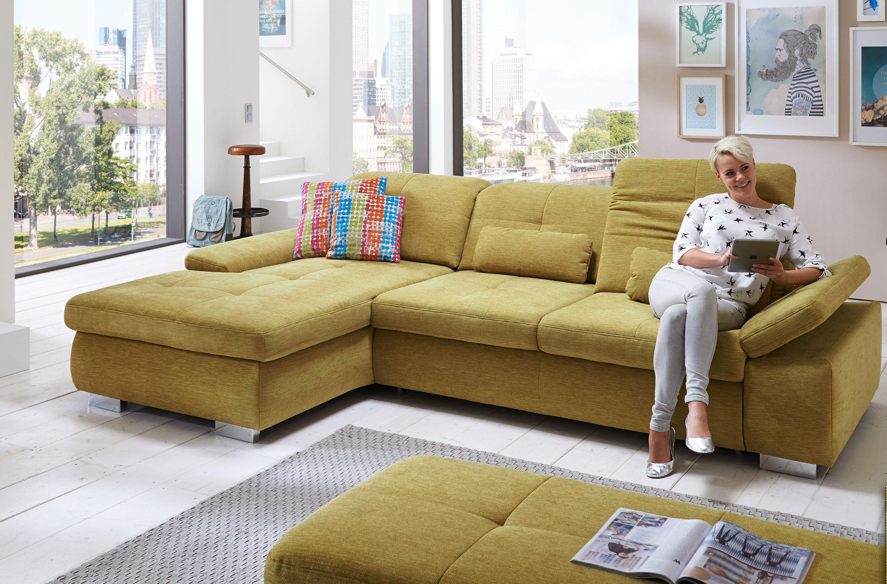 megapol artus schlafsofa mit recamiere m belmeile24. Black Bedroom Furniture Sets. Home Design Ideas
