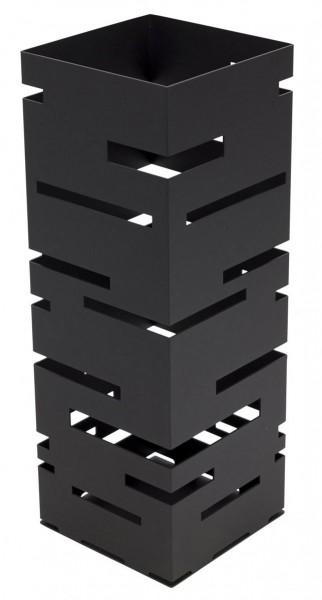 Lines Schirmständer schwarz Stahl