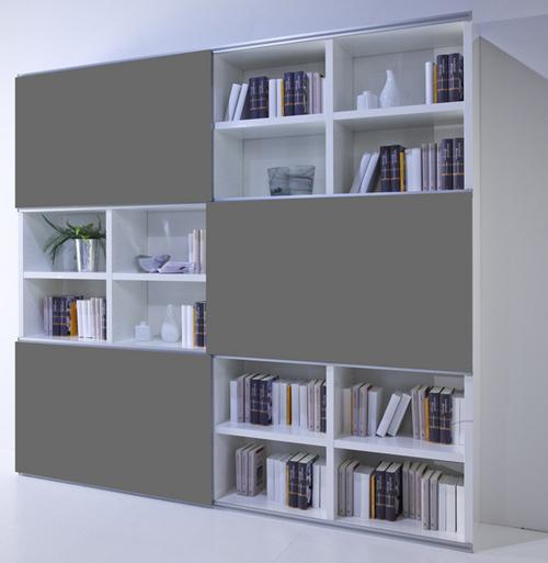 Toro Wohnzimmer Regal Mit Schiebeturen Weiss Hochglanz Nach Mass Planen Mobelmeile24