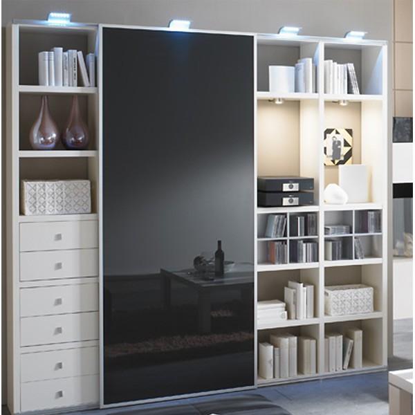 Toro Wohnzimmerregale mit Schiebetüren weiß Lack nach Maß planen