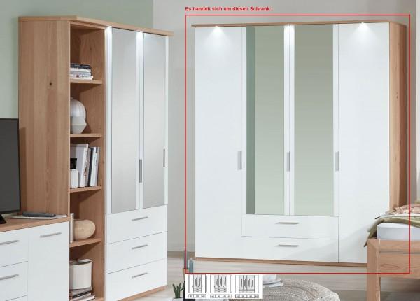 Disselkamp Cavalino Kleiderschrank mit Spiegel echtholzfurniert