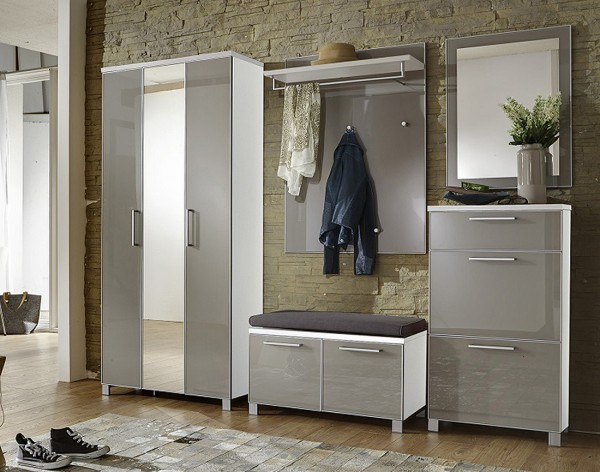 Voss Garderobe SANTINA / Front Glas Taupe