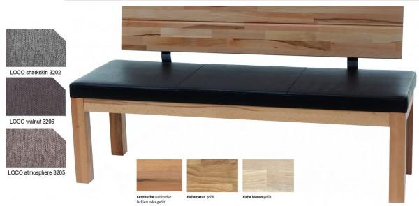 Standard Furniture Catania massive Holzbank mit Polster