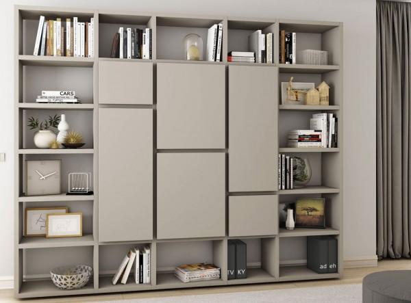 Toro Bücherregal Mit Türen Beige Lack