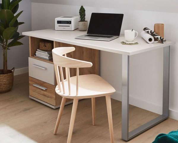New York Schreibtisch mit Container 3 Breiten viele Farbvarianten