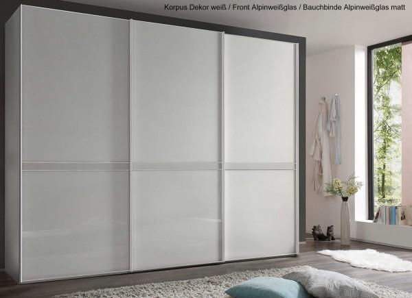 Staud Sonate Pesaro Schwebetürenschrank Glas viele Farben Breite 298 cm