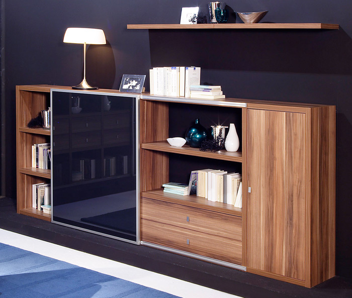 toro sideboard mit schiebet r nach ma walnuss u mehr farben m belmeile24. Black Bedroom Furniture Sets. Home Design Ideas