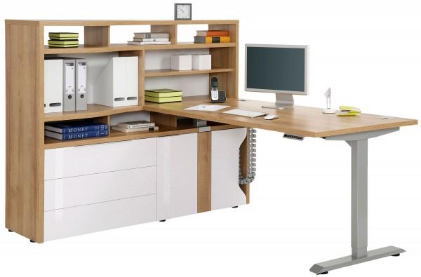 Maja Edjust Mini-Office mit Steh-Schreibtisch und Regal