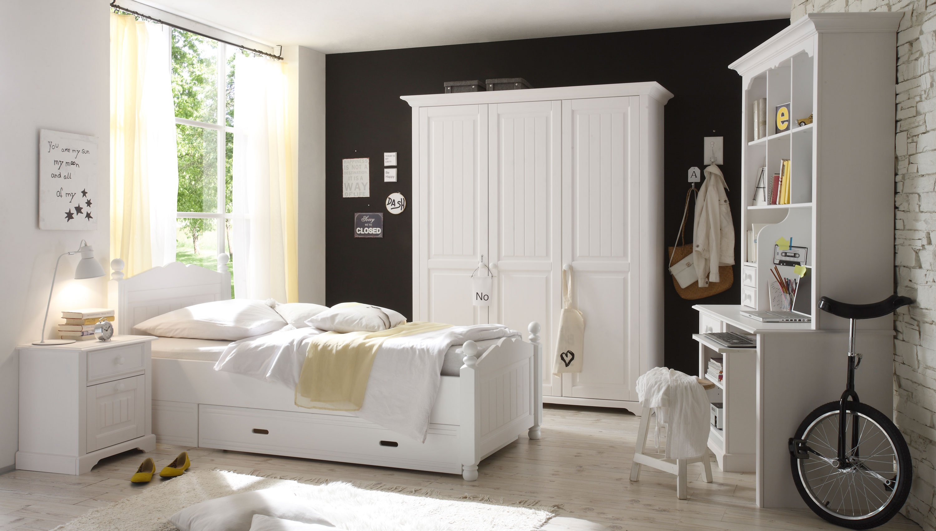 jugendzimmer design m dchen wei. Black Bedroom Furniture Sets. Home Design Ideas