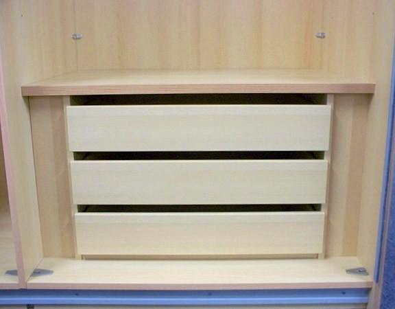 Staud 3er Set Schubladen für Kleiderschrank weißbuche o. texline