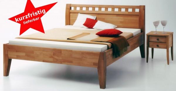 Massivholzbett Comfort500 buche massiv geölt 160x200 cm kurzfristig