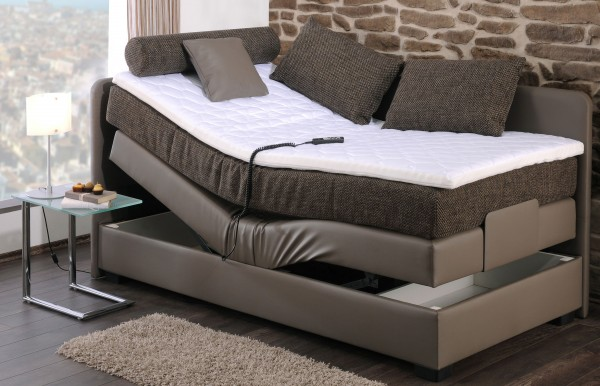 boxspringbett mit motor finja 90x200 cm m belmeile24. Black Bedroom Furniture Sets. Home Design Ideas