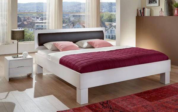 Dico Classic 388 Bett massiv buche mit Polstereinsatz