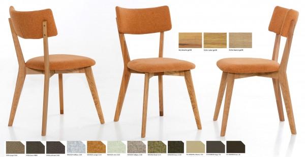 Standard Furniture Noci Polsterstuhl eiche oder kernbuche
