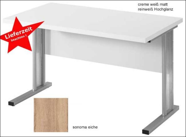 Schreibtisch 160 cm weiss wahlweise mit Rollcontainer