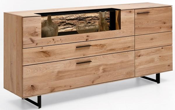 Hartmann Runa Massivholz Sideboard kerneiche mit Metallkufen optional