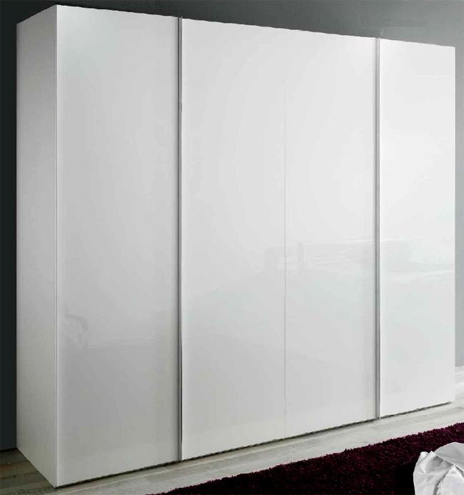 Das Bild zeigt einen P1 Drehtüren Kleiderschrank weiß 4türig.