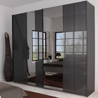 Das Bild zeigt einen P1 Schwebetürenschrank mit Spiegel.