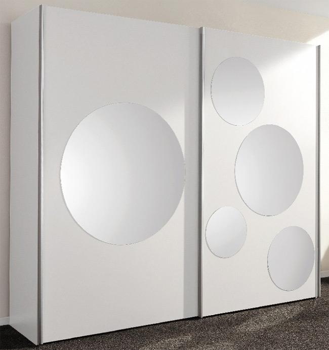 FIF Spot Schwebetürenschrank weiß mit Spiegel