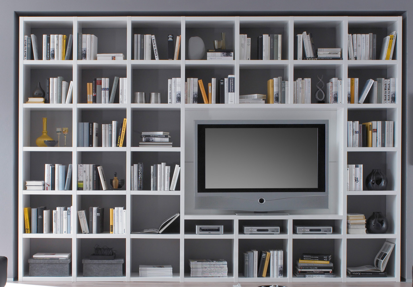 Details about Toro Bookcase Library Sliding Door Shelf with TV Tray Shelf  System individually- show original title