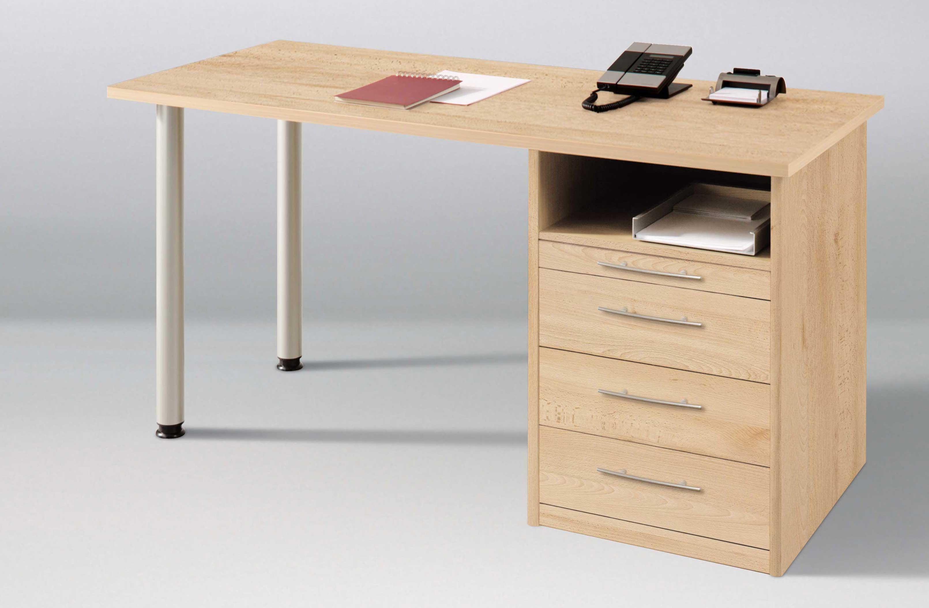 Priess Agenzia Schreibtisch mit Container in buche