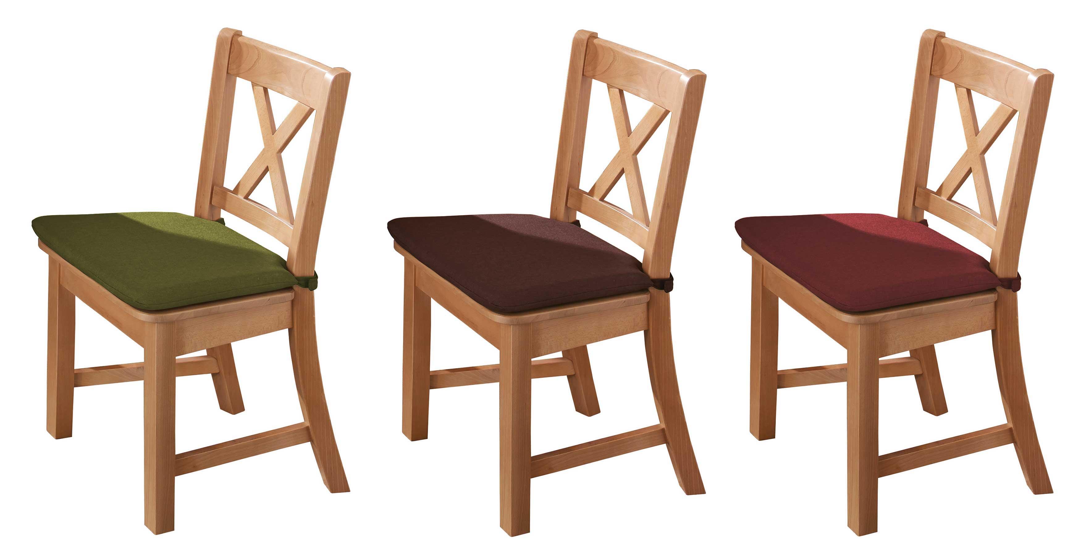 Schösswender Bodensee Holzstühle buche mit Polsterkissen