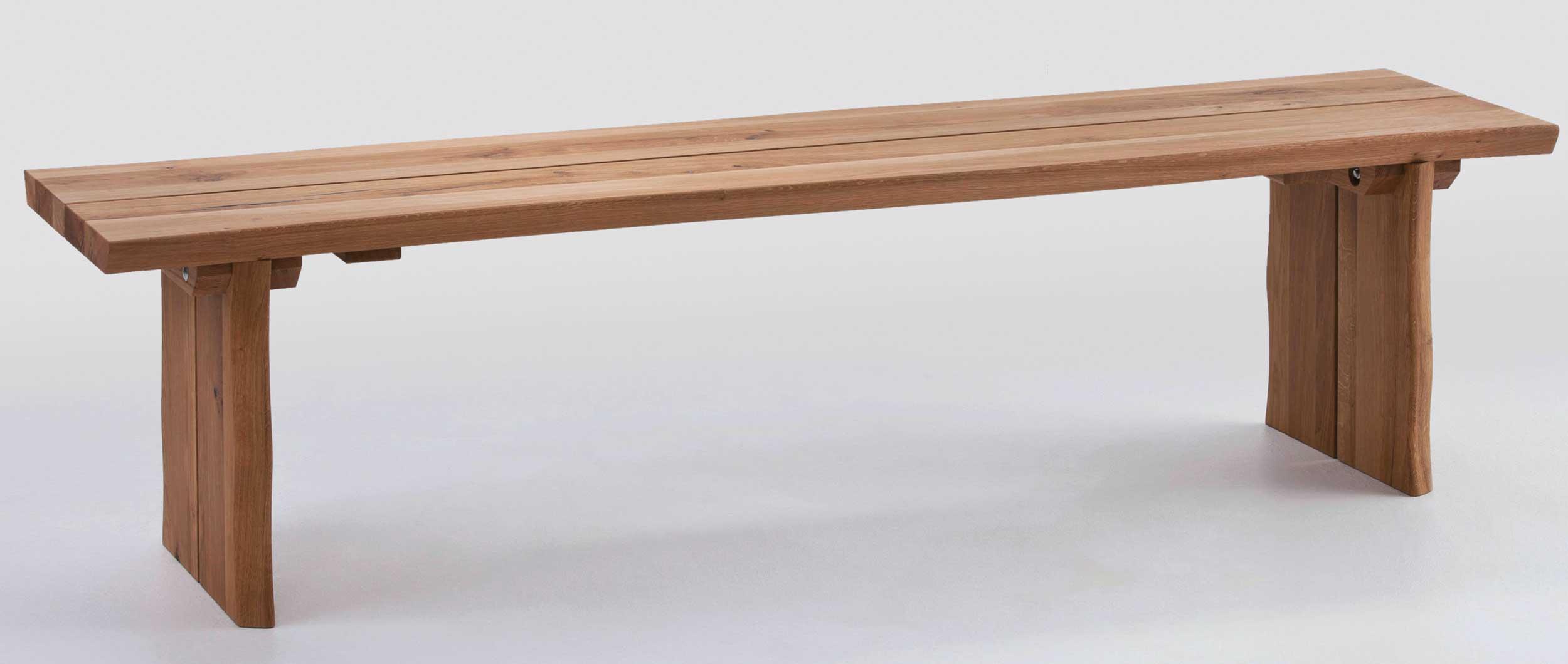 Schösswender Oviedo Sitzbank wildeiche mit Baumkante