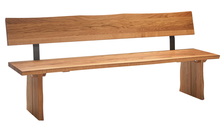 Schösswender Oviedo Holzbank wildeiche mit Baumkante
