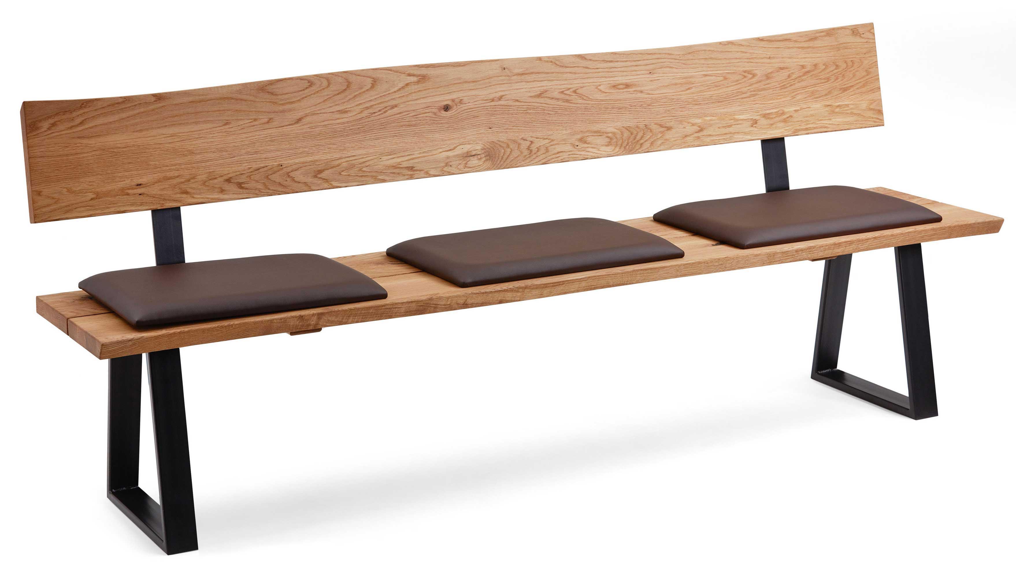 Schösswender Oviedo Holzbank mit Sitzpolster