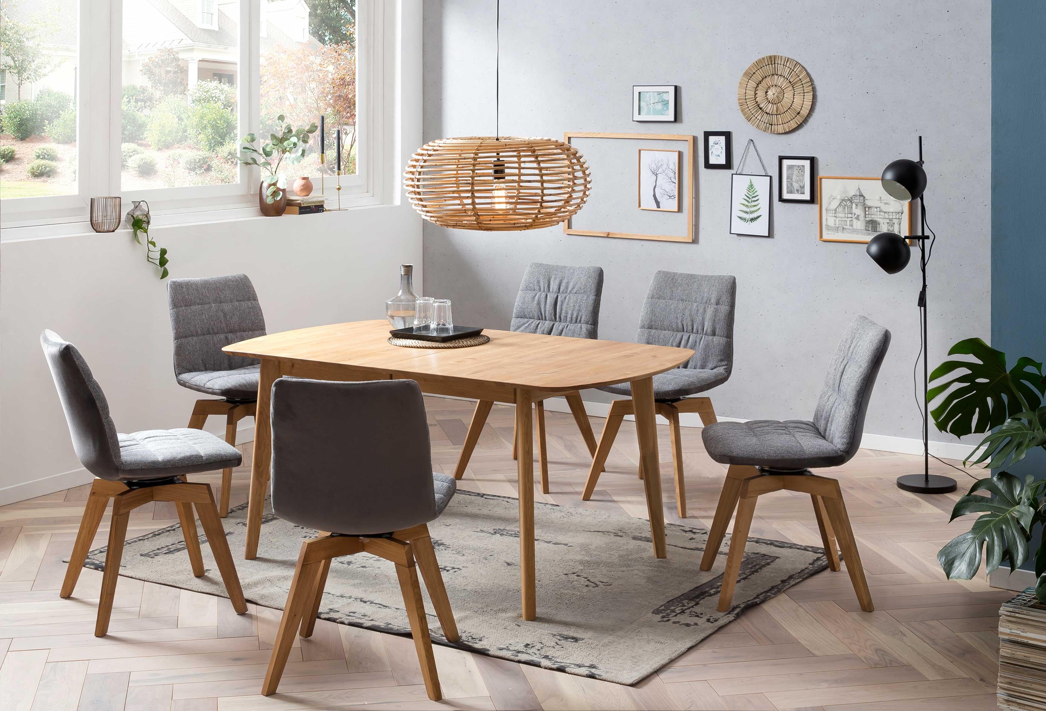 Standard Furniture Essgruppe mit Arles Massivholztisch eiche rustikal