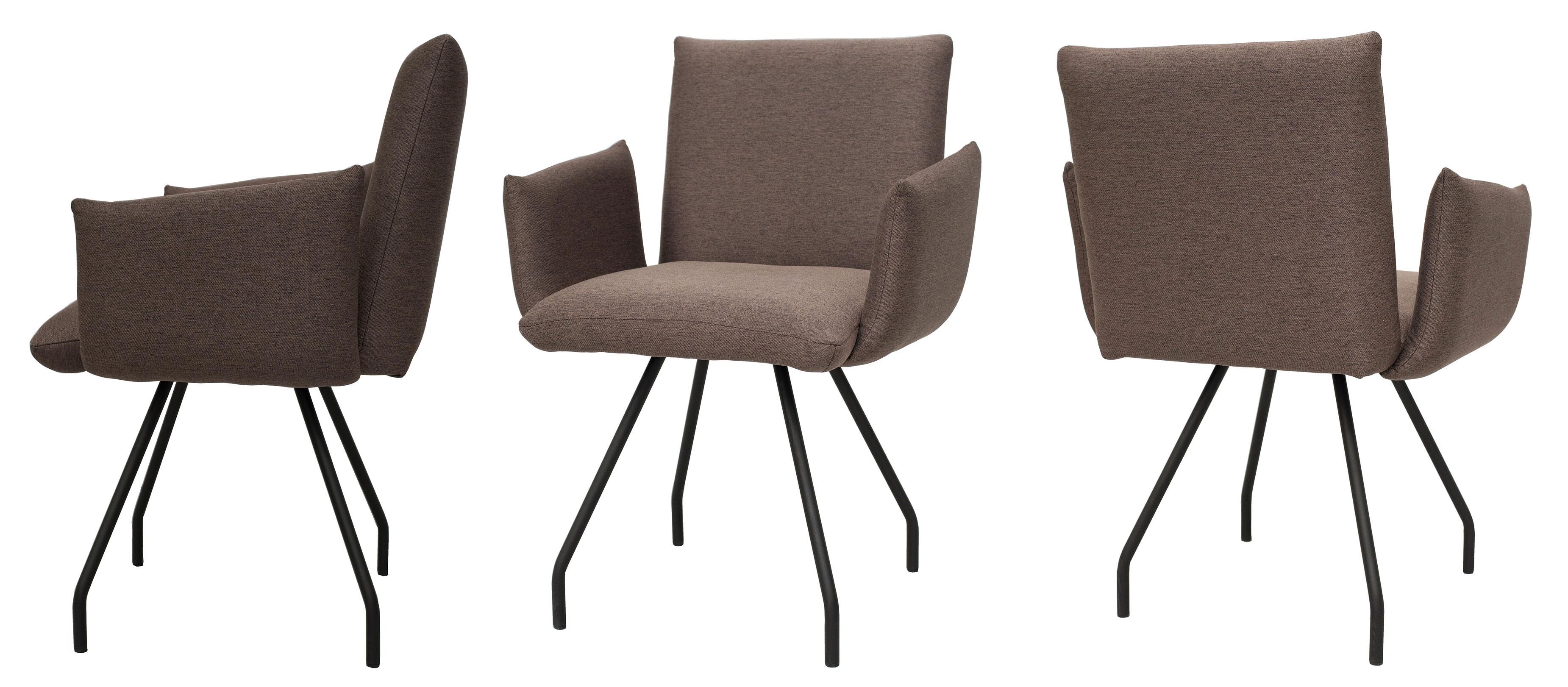 Standard Furniture Posada Armlehnstühle mit Metallbeinen