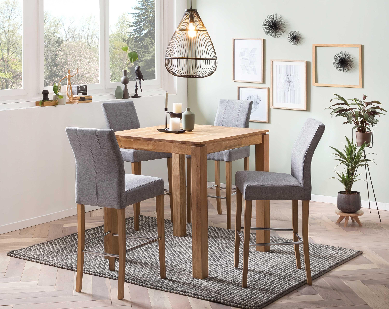 Standard Furniture Bistrotisch Tahir mit Hochstühlen Taki eiche
