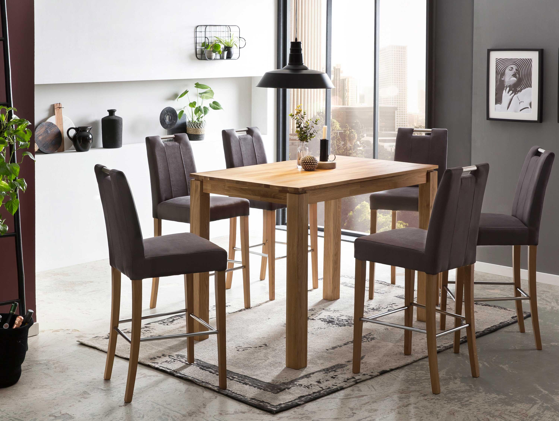 Standard Furniture Stehtisch Tahir mit Tresenstühlen Thao eiche