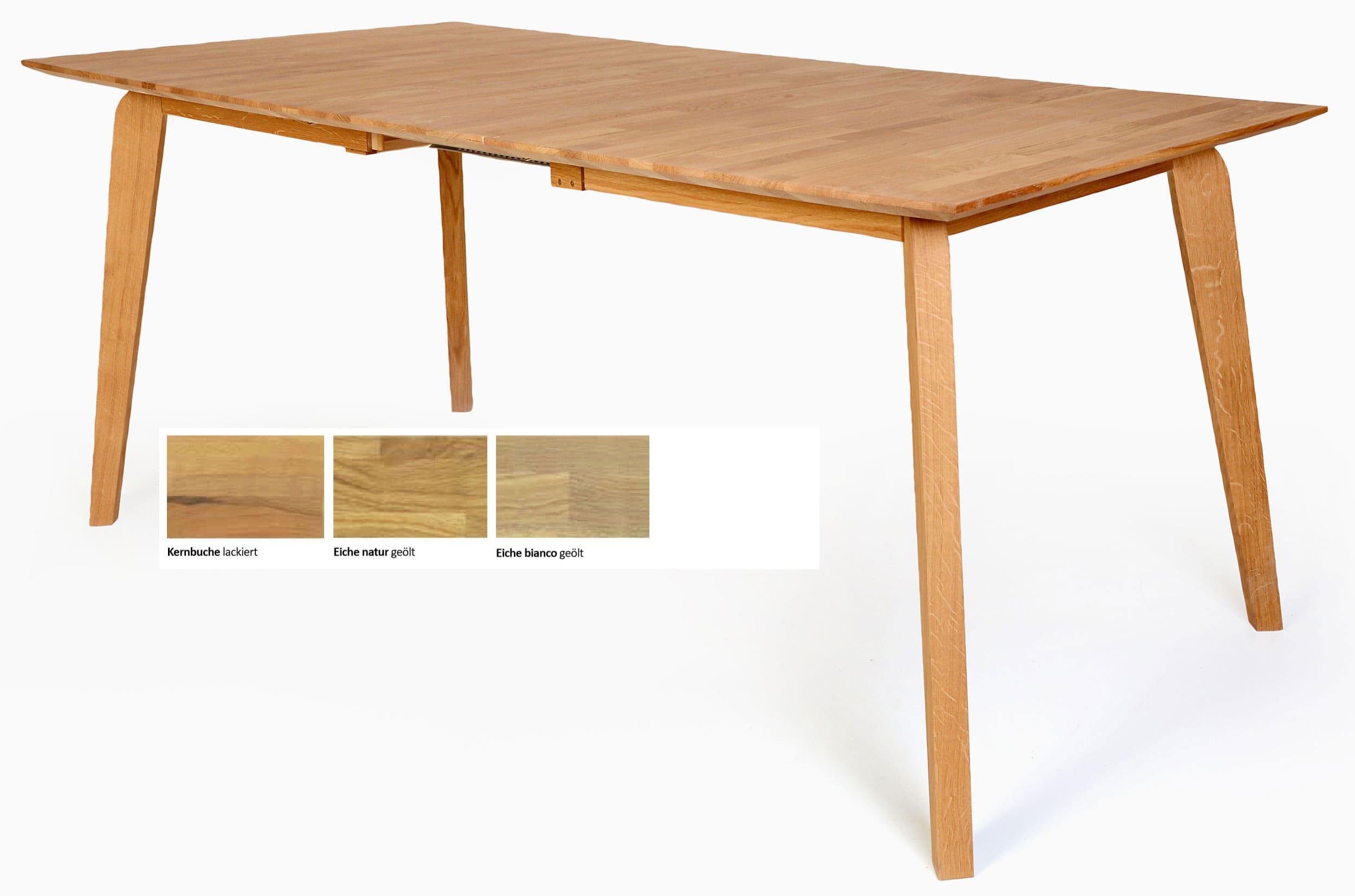 Details zu Liam Massivholz Esstisch massiv Holztisch Esszimmertisch  ausziehbar o. fest