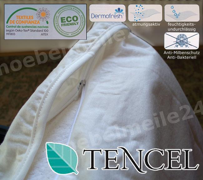 Das Bild zeigt einen Allergie Kopfkissenbezug wasserdicht mit Milbenschutz.
