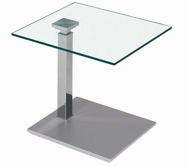 vierhaus 1443 Glastisch 55x47 cm höhenverstellbar