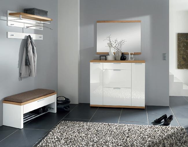 voss Garderobe Burgos in Kombination Echtholz - Hochglanz