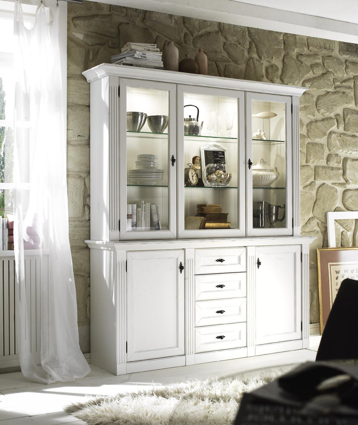 Wohnwand Wehrsdorder Maison in Vintage weiß