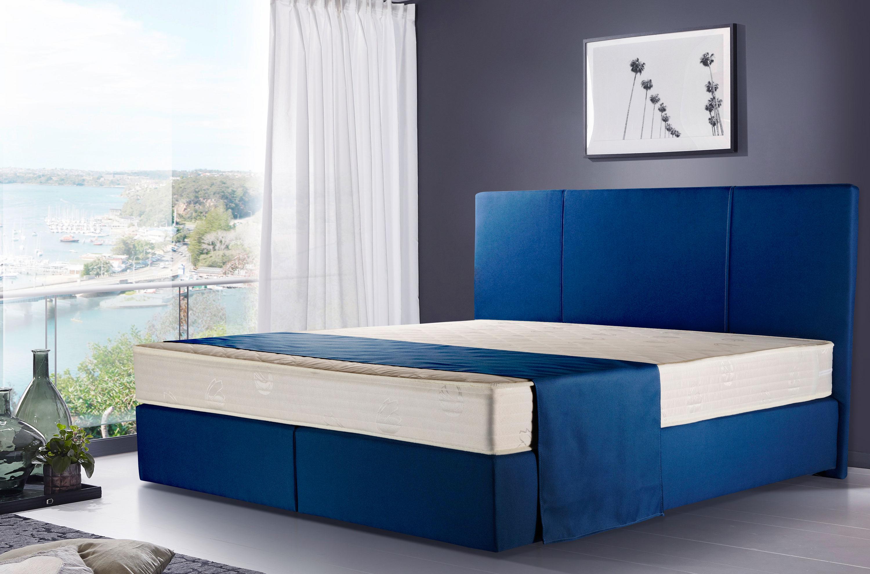 Winkle Neptun günstiges Boxspringbett blau