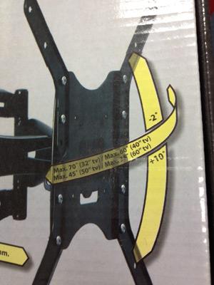 Das Bild zeigt die Funktionen von einem TV Wandhalter schwenkbar.