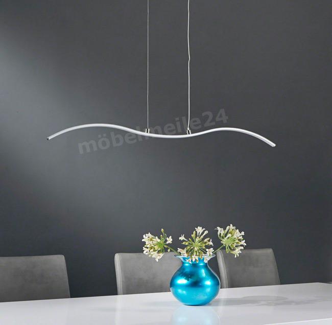 moderne LED Hängelampe Nickel