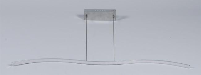 moderne LED Hängeleuchte Nickel