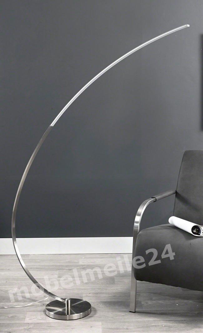 moderne LED Bogenlampe Nickel