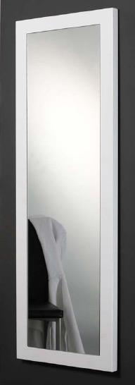 Das Bild zeigt einen Ankleidespiegel weiß Hochglanz 50x150 cm.