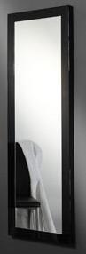 Das Bild zeigt einen Ankleidespiegel schwarz Hochglanz 50x150 cm.