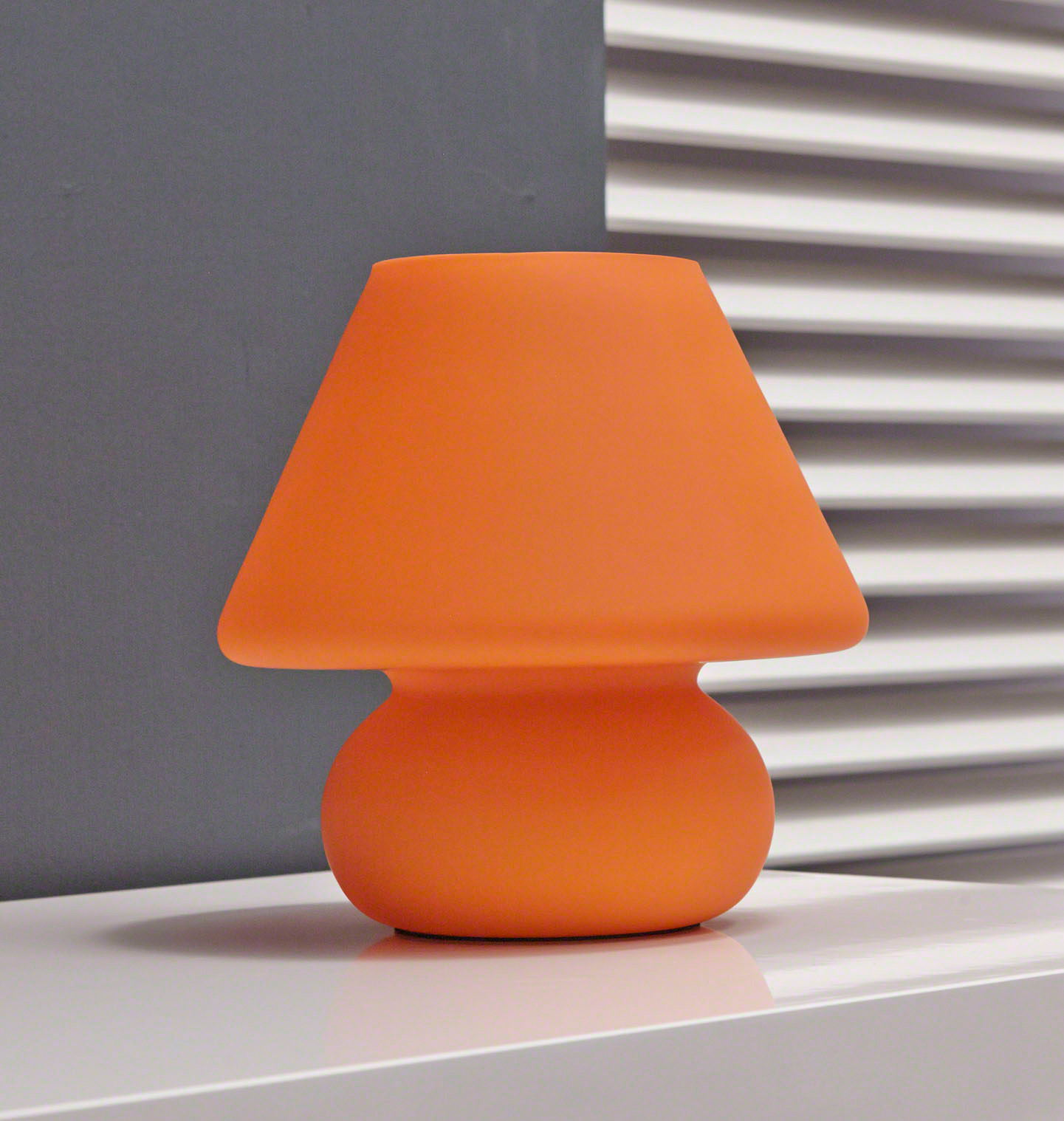 Retro Tischlampe Glas orange